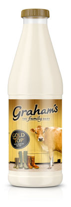 Picture of Graham's Gold Top Jersey Milk 1 Litre