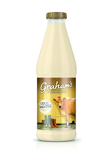 Picture of Graham's Gold Top Smooth Jersey Milk 1 Litre
