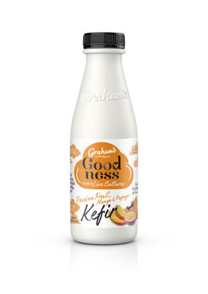 Picture of Graham's Kefir - Mango, Passionfruit & Papaya 500ml Bottle