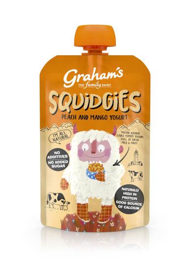 Picture of Graham's Squidgies Peach and Mango Yogurt 100g x 6